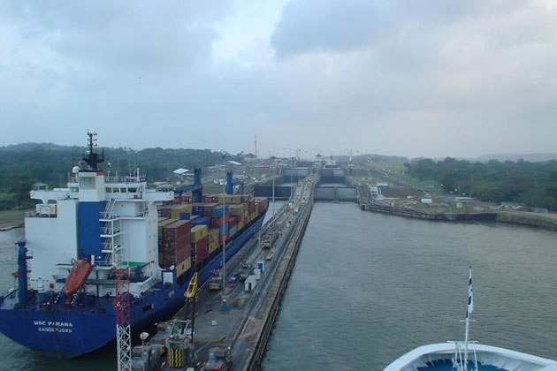 Panama Canal near Colon